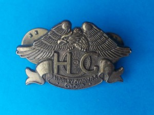 Wpinka pin vintage Harley Owners Club